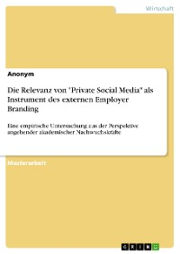 """Cover Die Relevanz von """"Private Social Media"""" als Instrument des externen Employer Branding"""