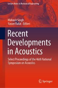 Cover Recent Developments in Acoustics