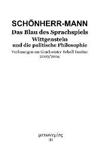 Cover Das Blau des Sprachspiels