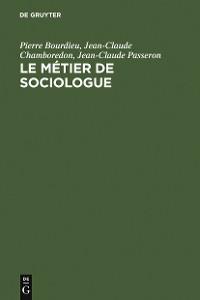 Cover Le métier de sociologue