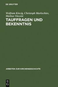 Cover Tauffragen und Bekenntnis