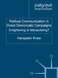 Cover Political Communication in Direct Democratic Campaigns