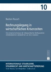 Cover Rechnungslegung in wirtschaftlichen Krisenzeiten