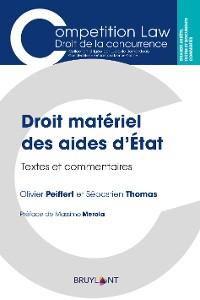 Cover Droit matériel des aides d'État