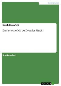 Cover Das lyrische Ich bei Monika Rinck