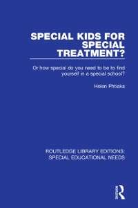 Cover Special Kids for Special Treatment?