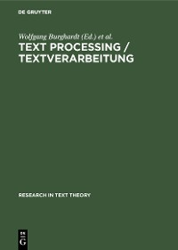 Cover Text Processing / Textverarbeitung