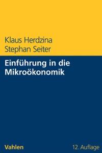 Cover Einführung in die Mikroökonomik