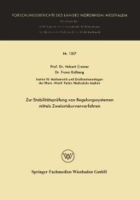 Cover Zur Stabilitatsprufung von Regelungssystemen mittels Zweiortskurvenverfahren