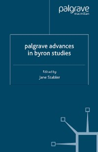 Cover Palgrave Advances in Byron Studies