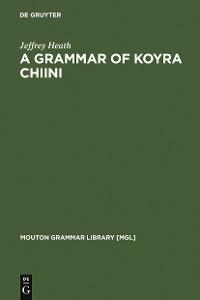 Cover A Grammar of Koyra Chiini