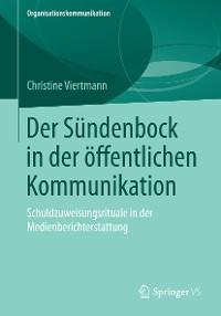Cover Der Sündenbock in der öffentlichen Kommunikation