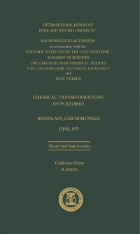 Cover Chemical Transformations of Polymers