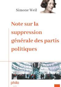 Cover Note sur la suppression générale des partis politiques