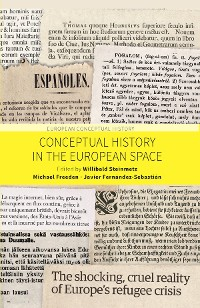 Cover Conceptual History in the European Space