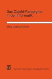 Cover Das Objekt-Paradigma in der Informatik