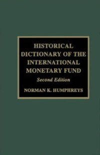 Cover Historical Dictionary of the IMF