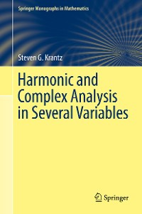 Cover Harmonic and Complex Analysis in Several Variables