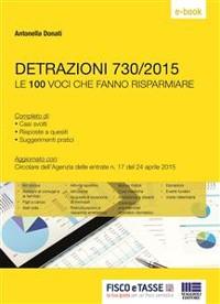 Cover Detrazioni 730/2015 - Le 100 voci che fanno risparmiare