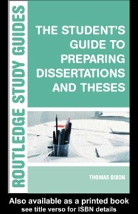 Cover Student's Guide to Preparing Dissertations and Theses