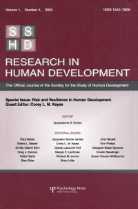 Cover Risk and Resilience in Human Development