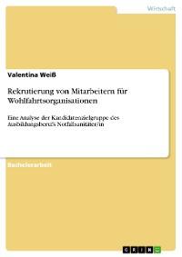 Cover Rekrutierung von Mitarbeitern für Wohlfahrtsorganisationen