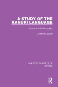 Cover Study of the Kanuri Language
