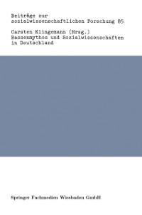 Cover Rassenmythos und Sozialwissenschaften in Deutschland
