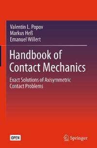 Cover Handbook of Contact Mechanics