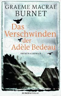 Cover Das Verschwinden der Adèle Bedeau