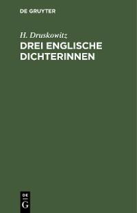 Cover Drei englische Dichterinnen