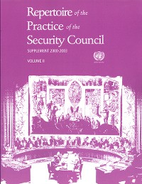 Cover Repertoire of the Practice of the Security Council: Supplement 2000-2003 (Vol. 1 & 2)