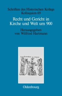 Cover Recht und Gericht in Kirche und Welt um 900