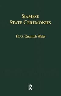Cover Siamese State Ceremonies
