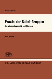 Cover Praxis der Balint-Gruppen