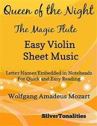Cover Queen of the Night Magic Flute Easy Violin Sheet Music