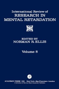 Cover International Review of Research in Mental Retardation