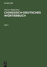 Cover Chinesisch-Deutsches Wörterbuch