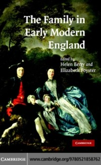 Cover Family in Early Modern England