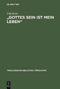 """Cover """"Gottes Sein ist mein Leben"""""""