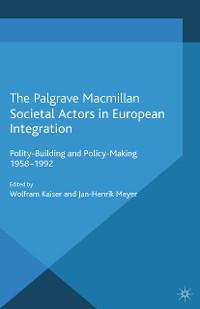 Cover Societal Actors in European Integration