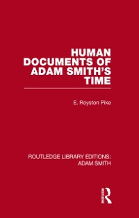 Cover Human Documents of Adam Smith's Time