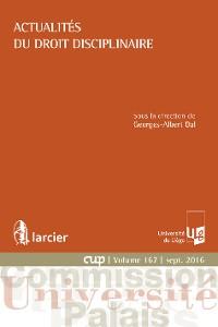 Cover Actualités du droit disciplinaire