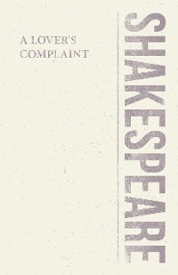 Cover A Lover's Complaint