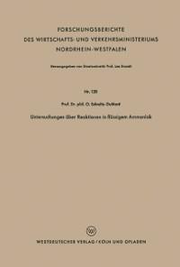 Cover Untersuchungen uber Reaktionen in flussigem Ammoniak