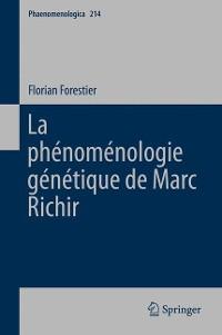 Cover La phénoménologie génétique de Marc Richir