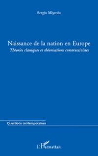 Cover Naissance de la nation en europe - theories classiques et th