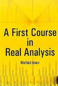 Cover A First Course In Real Analysis