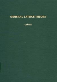 Cover General Lattice Theory