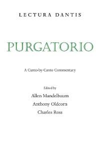 Cover Lectura Dantis, Purgatorio